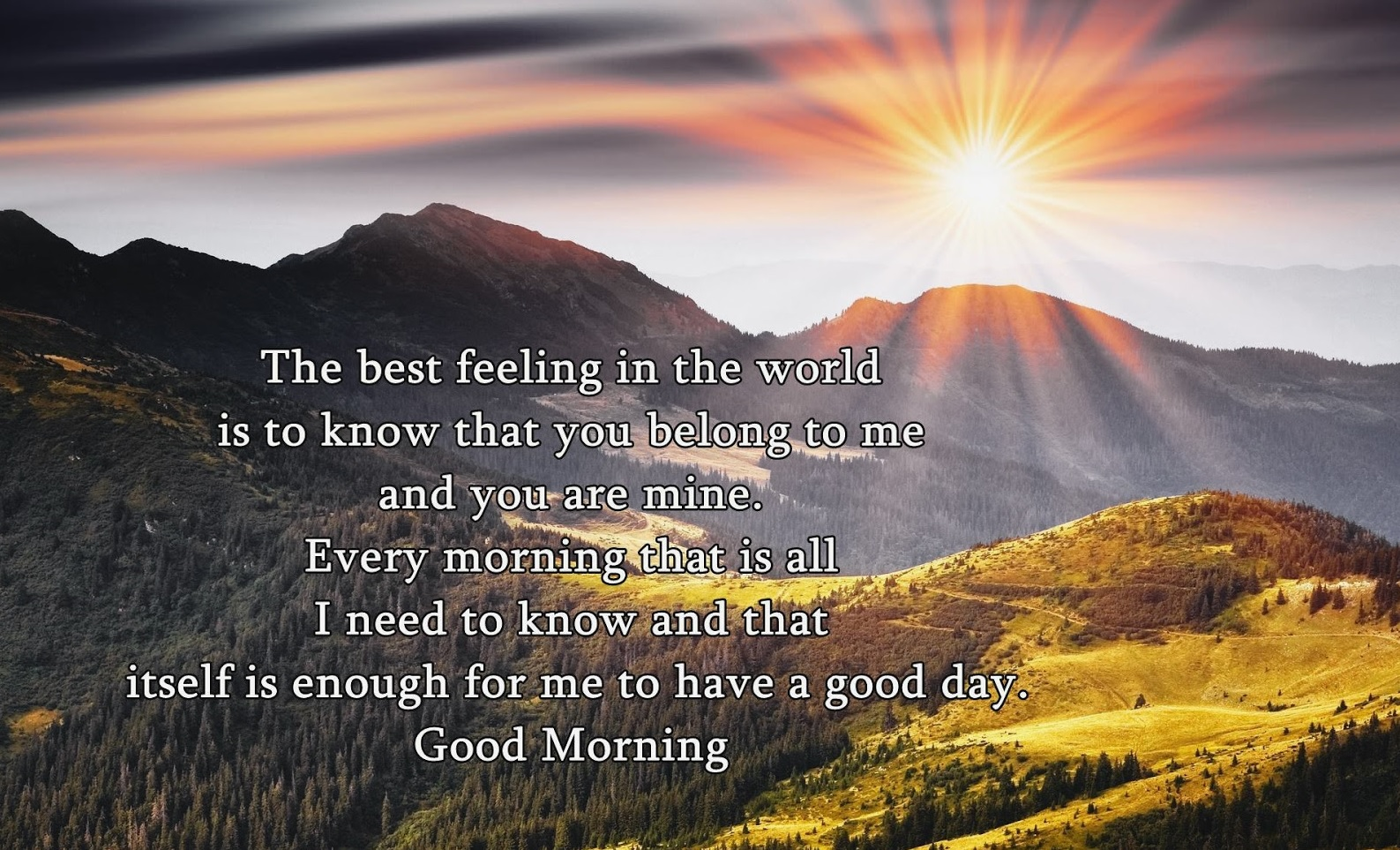 Love Quote For Him And Her Early Morning Sunshine: Good Morning Quotes For Her